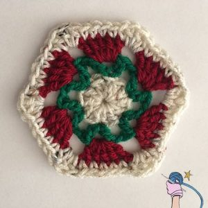 Crochet Flower Garden Hexagon - Dearest Debi Patterns