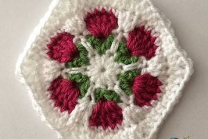 Crochet Flower Garden Hexagon
