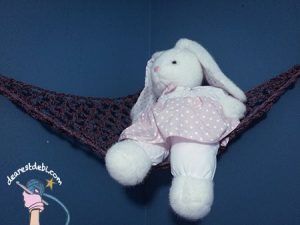 Crochet Cordial Toy Hammock - Dearest Debi Patterns
