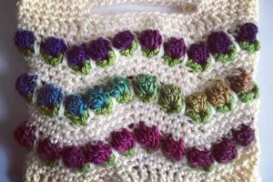 Chevron Flower Ripple Hand Bag