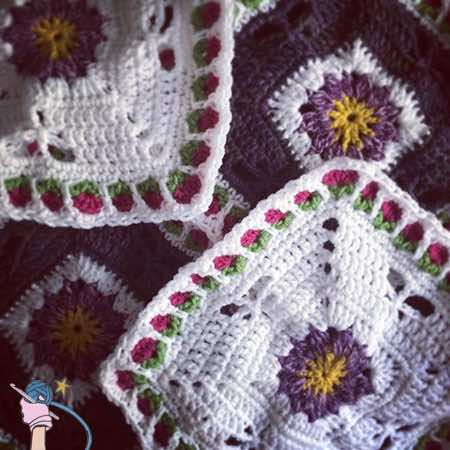 Dragonfly Garden Afghan Block - Dearest Debi Patterns