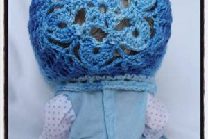 Crochet Snow Flower Bonnet