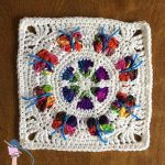 Butterfly Blossom Garden Square - Dearest Debi Patterns