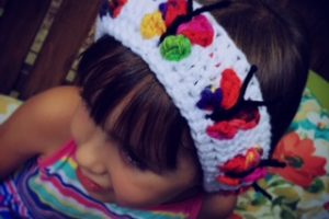 Crochet Butterfly Kiss Headband