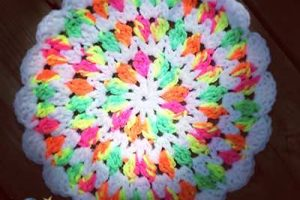 Crochet Dish Pan Pin Wheel - Dearest Debi Patterns