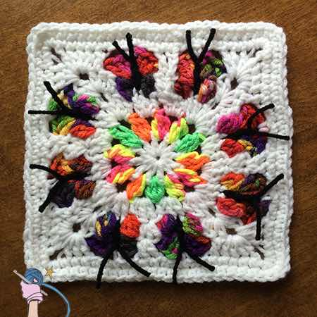 Butterfly Flower Garden Square - Dearest Debi Patterns