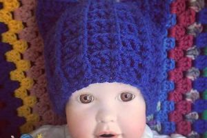 Crochet Royal Cat Hat - Dearest Debi Patterns