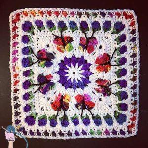 Blooming Garden Afghan Block 2.0