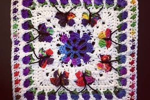 Blooming Garden Afghan Block - Dearest Debi Patterns