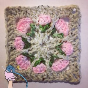 Crochet Rosie Posy Flower Square