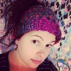 Crochet Waves Messy Bun Ponytail Hat
