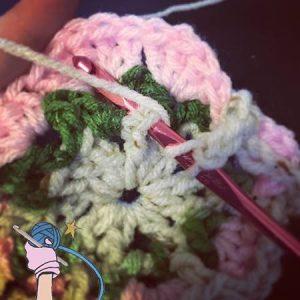 Crochet Rosie Posy Flower Square - Dearest Debi Patterns