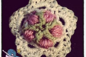 Crochet Happy New Year Flower