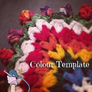 Garden Romp Crochet Along 2017 Colour Templates