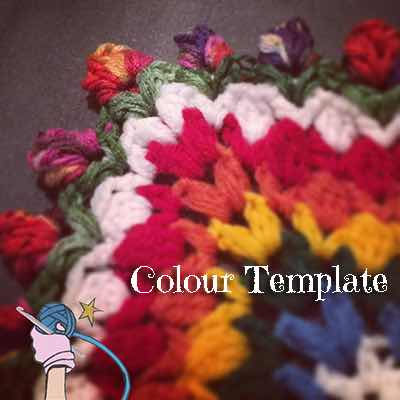 Garden Romp Colour Templates - Dearest Debi Patterns