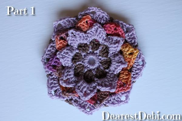 Garden Romp Crochet Along 2017 Part 1 - Dearest Debi Patterns
