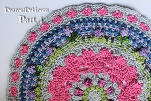 Girly Afghan CAL Mandala Part 4