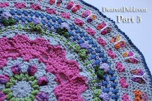 Girly Afghan CAL Mandala Part 5 - Dearest Debi Patterns