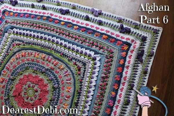 Girly Afghan CAL Afghan Part 6 - Dearest Debi Patterns