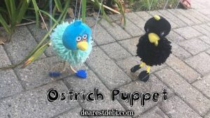 Ostrich Puppet - Dearset Debi Patterns