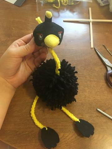 Ostrich Puppet - Dearest Debi Patterns