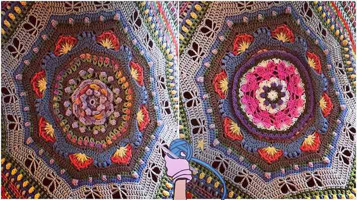 Crochet Afghan Puzzle Pieces Garden Romp - Dearest Debi Patterns