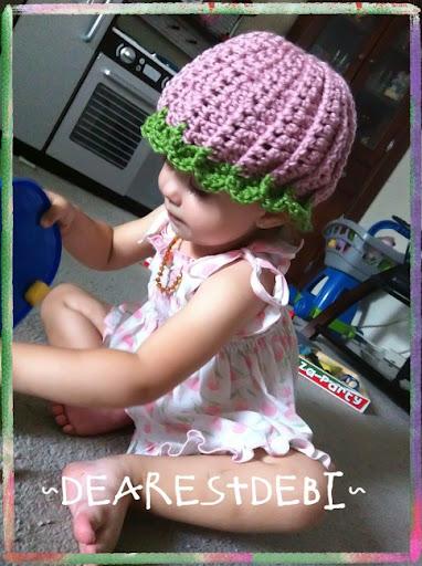 Watermelon Beanie Free Crochet Pattern by Dearest Debi