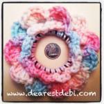 Crochet Hair Elastic Flower - Dearest Debi Patterns