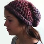 Crochet Slouchy Hat - Dearest Debi Patterns