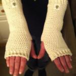 Crochet Cotton Arm Warmers - Dearest Debi Patterns