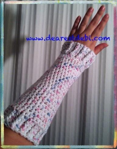 Crochet Wrist Warmers - Dearest Debi Patterns
