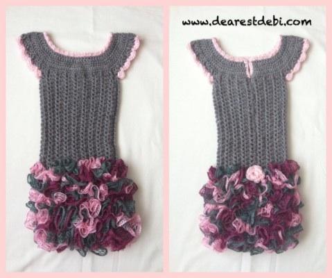 Crochet Dress - Little Miss Ruffles - Pattern by Dearest Debi