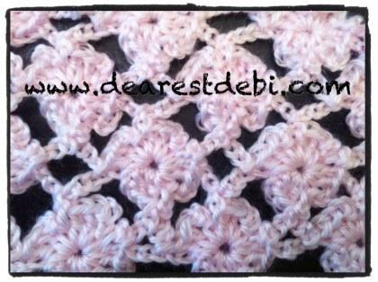 Crochet Flower Lattice Scarf Video Tutorial - Dearest Debi Patterns