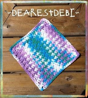 Easy Peasy Dishcloth Free Crochet - Dearest Debi Patterns