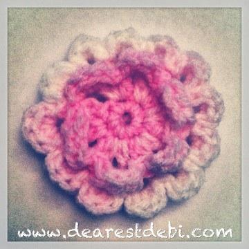 Crochet 3D Flower - Dearest Debi Patterns
