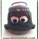 Crochet Oscar the Grouch Inspired Trash Can - Dearest Debi Patterns