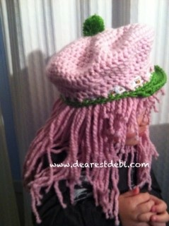 Strawberry Shortcake Inspired Hat and Wig - Dearest Debi Patterns