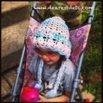 Crochet Flower Bonnet - Dearest Debi Patterns