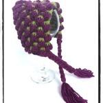 Tunisian Crochet Berry Bonnet - Dearest Debi Patterns