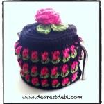 Tunisian Crochet Roses Tea Cozy - Dearest Debi Patterns
