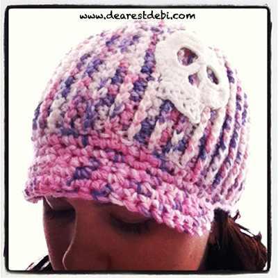 Crochet Newsboy Ribbed Adult Beanie - Dearest Debi Patterns