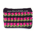 Tunisian Crochet Roses Clutch - Dearest Debi Patterns