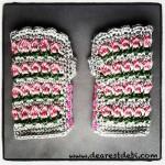 Tunisian Roses Wristlets - Dearest Debi patterns