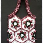 Crochet Flower Bud Granny Hexagon - Dearest Debi Patterns