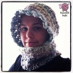 Crochet Hooded Cowl with Buttons - Dearest Debi Patterns