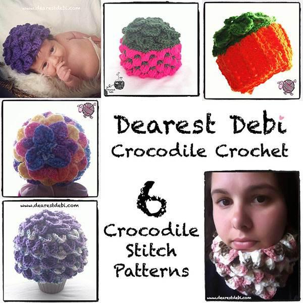 Crocodile Crochet Book - Dearest Debi Patterns