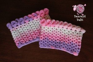 Canna Lily Crochet Boot Cuff - Dearest Debi Patterns