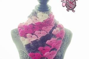 Crochet Love Triangle Shawl - Dearest Debi Patterns
