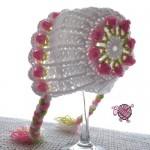 Pretty Little Miss Flower Newborn Bonnet - Dearest Debi Patterns