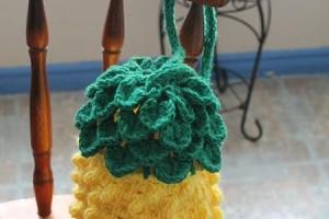 Tunisian Pineapple Bag - Dearest Debi Patterns